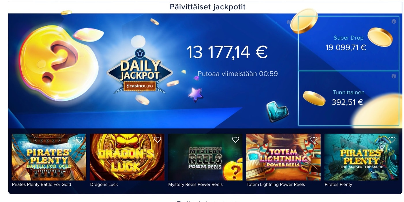 Casinoeuron Jackpotit
