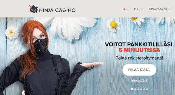 Ninja Casino - Nettikasino ilman rekisteröintiä