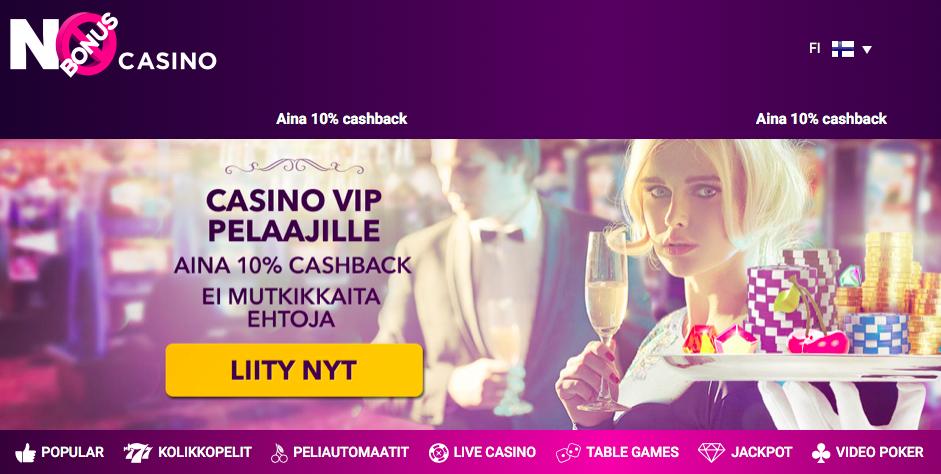 No Bonus Casino - Vain käteistä jaossa