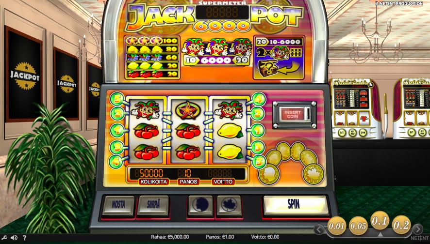 Jackpot 6000 peliautomaatti