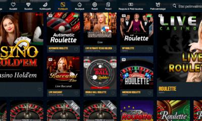 Pöytäpelit ja live kasino
