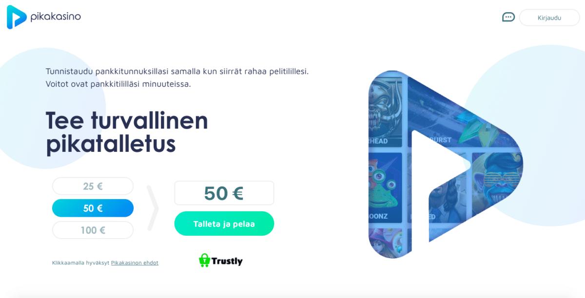 Pikakasino - Uusi suomalainen nettikasino