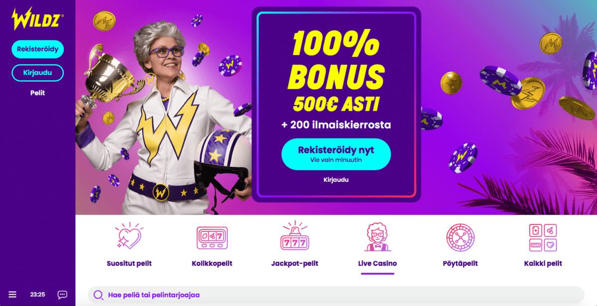 Wildz Casino - Uusi nettikasino Rizkin tekijöiltä!