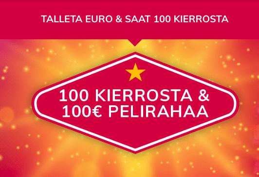 Eurolla 100 ilmaiskierrosta